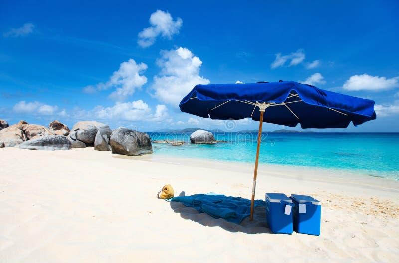Perfekt strand för bild på karibiskt royaltyfri fotografi