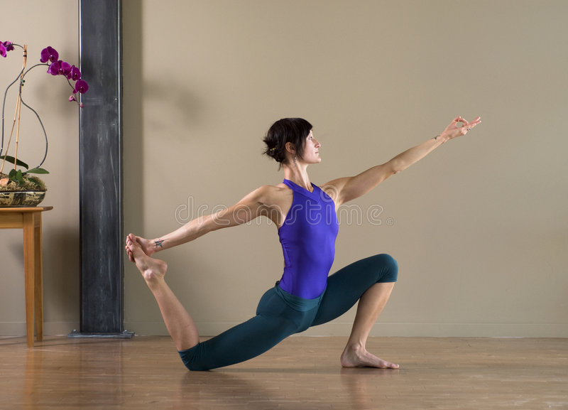 perfekt yoga arkivbild