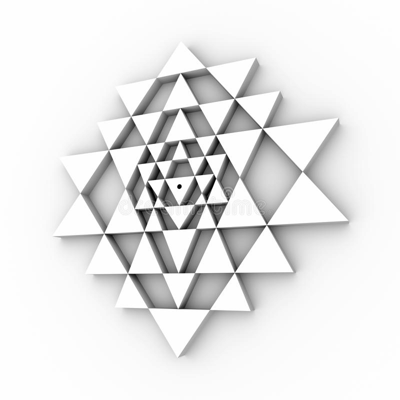 Perfekte Geometrie Sri Yantra stockfotografie