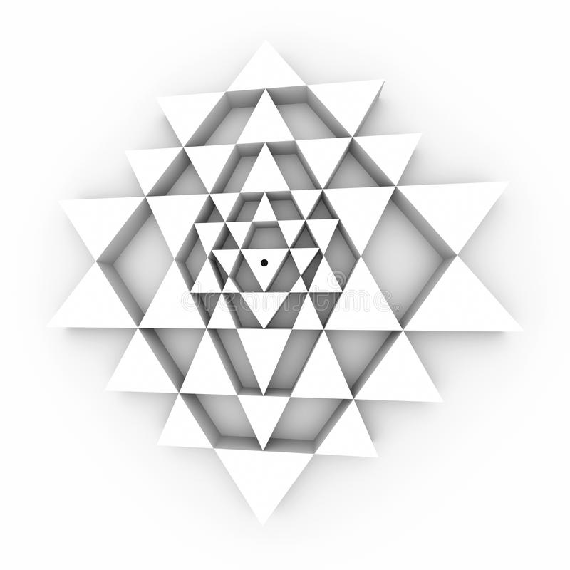 Perfekte Geometrie Sri Yantra lizenzfreies stockfoto
