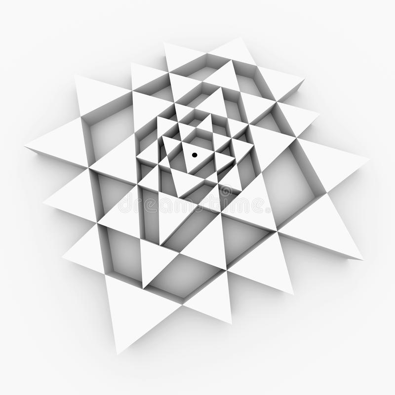 Perfekte Geometrie Sri Yantra lizenzfreies stockbild