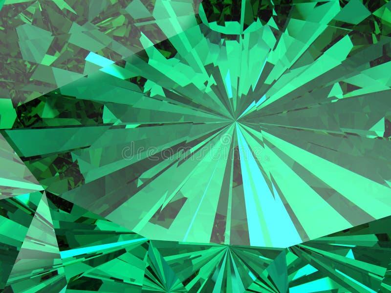 Perfekter Smaragd auf einem weißen Hintergrund lizenzfreie abbildung
