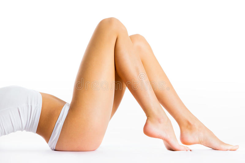 Perfekter weiblicher Körper stockfotografie