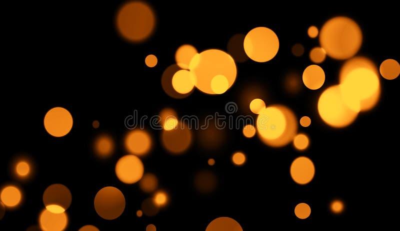 Perfektes abstraktes Gold-bokeh für Hintergrund Funkelnlicht vektor abbildung