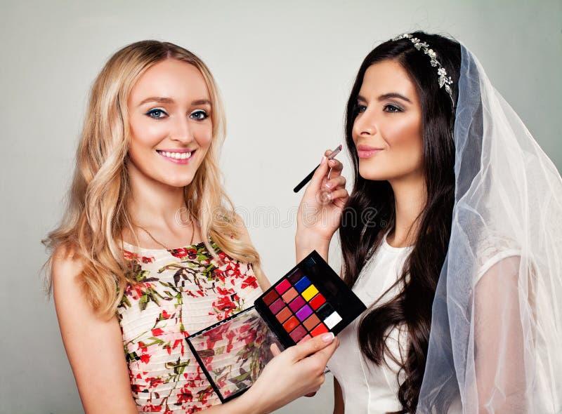 Perfektes Mode-Modell-und Schönheits-Make-up stockfoto