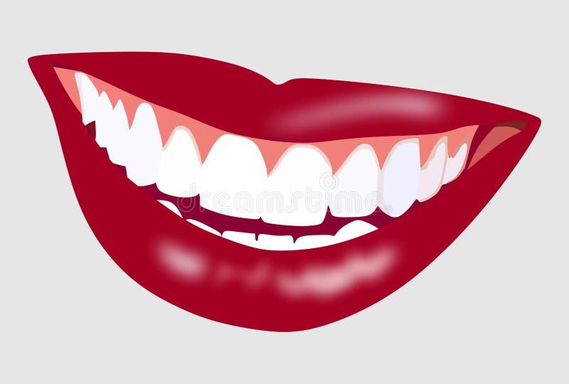 Perfektes Zahnkonzept stock abbildung