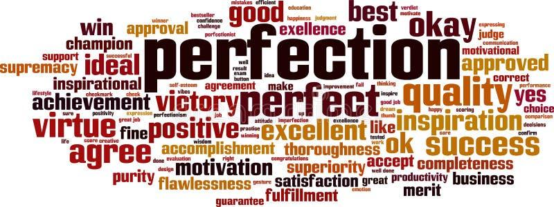 Perfektionswortwolke stock abbildung