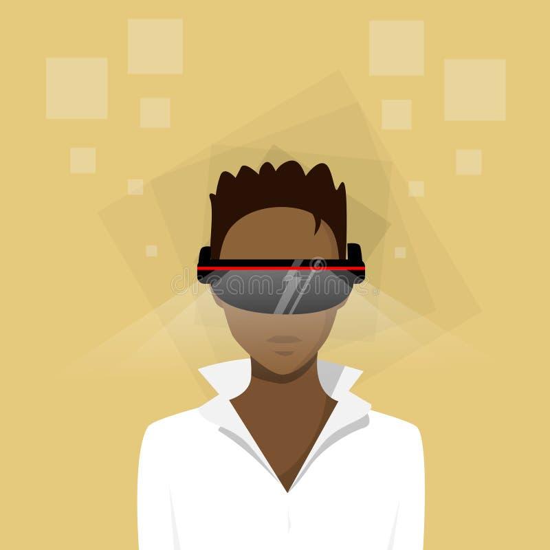 Perfil étnico afroamericano de la mujer de negocios stock de ilustración