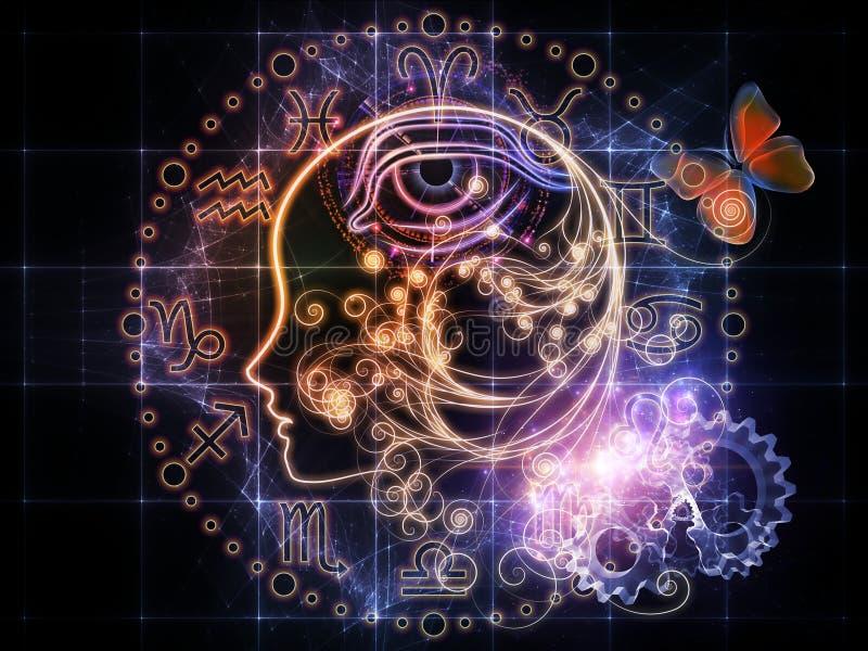 Perfil astrológico ilustração do vetor