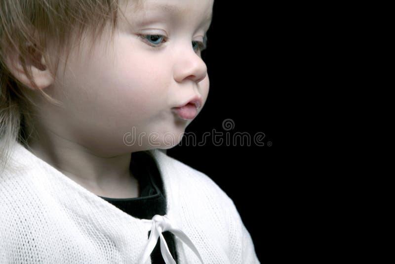 Perfil bonito do bebê imagem de stock royalty free