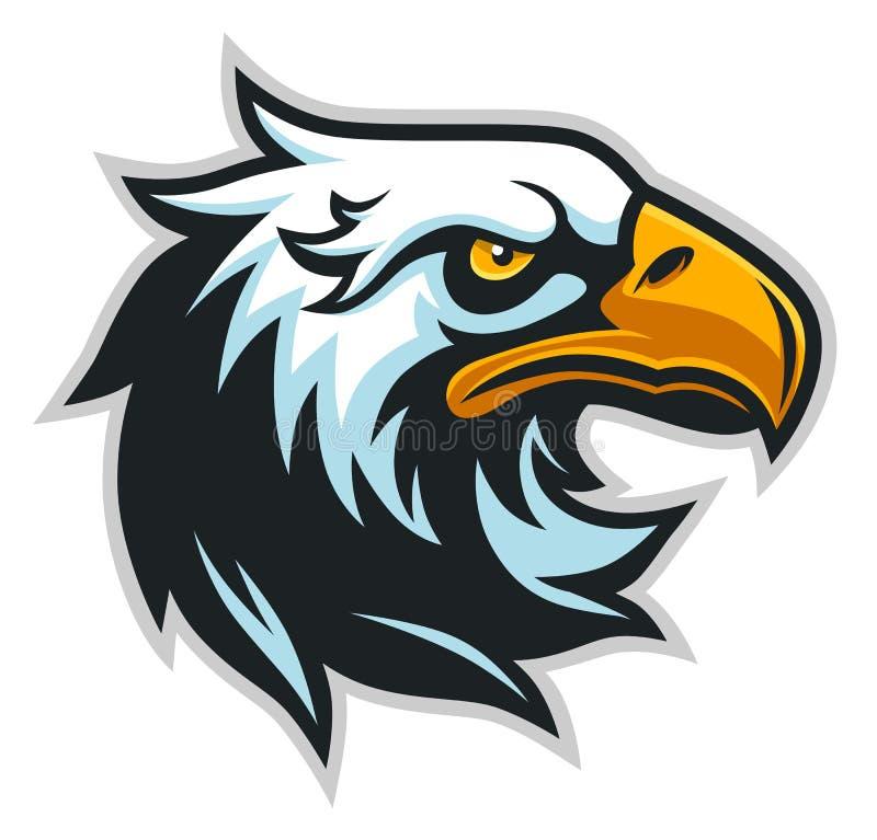 Perfil da cabeça de Eagle simples ilustração stock