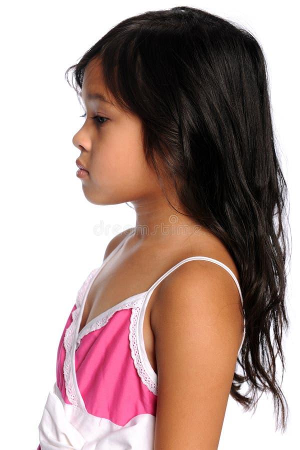 Perfil da menina asiática foto de stock