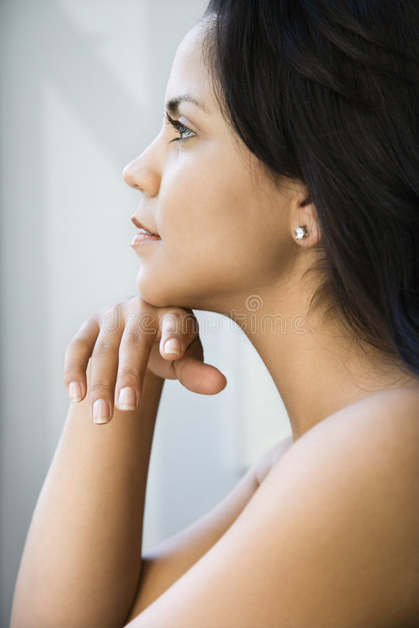 Perfil da mulher. fotos de stock royalty free