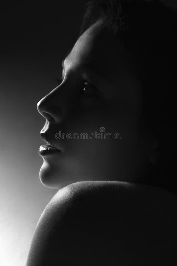 Perfil da mulher. imagens de stock royalty free