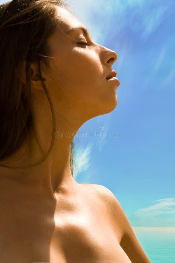 Perfil da mulher fotos de stock royalty free