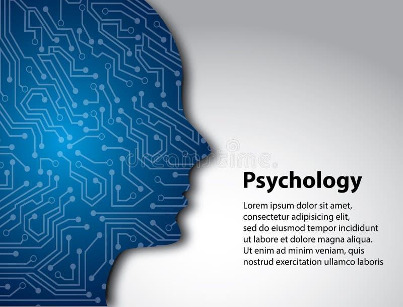 Perfil da psicologia ilustração royalty free