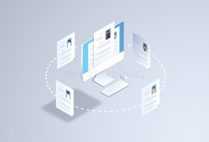 Perfil de alquiler del curriculum vitae del cv del concepto de los personales de la hora de la posición del trabajo del candidato libre illustration