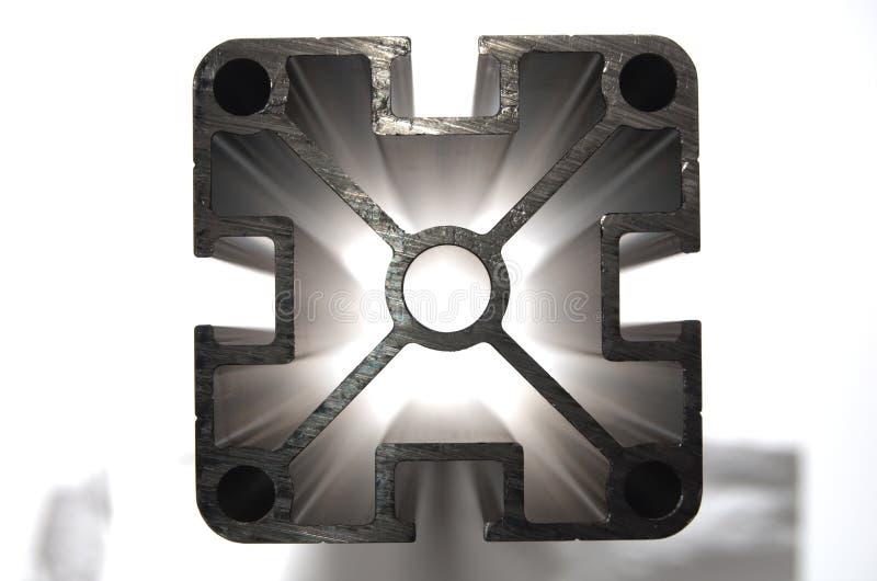 Perfil de aluminio HDR imagen de archivo libre de regalías