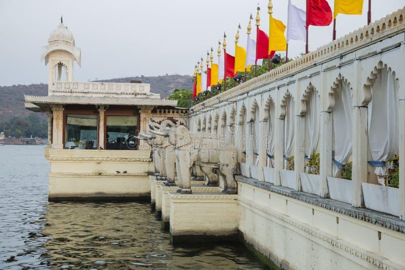 Perfil de Jag Mandir Palace Entryway Architecture fotos de archivo