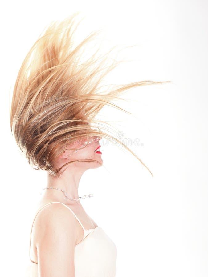 Perfil de la belleza de mentira con el pelo elegante fotografía de archivo libre de regalías