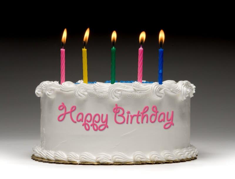 Perfil de la torta de cumpleaños imagen de archivo