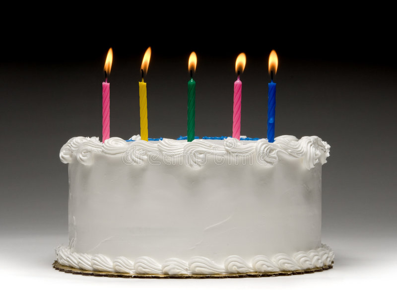 Perfil de la torta de cumpleaños fotos de archivo