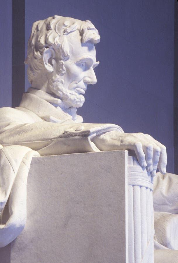 Perfil de Lincoln Memorial, Washington, DC imagenes de archivo