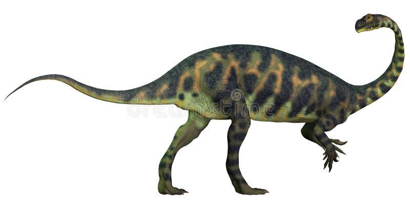 Perfil de Massospondylus ilustração royalty free