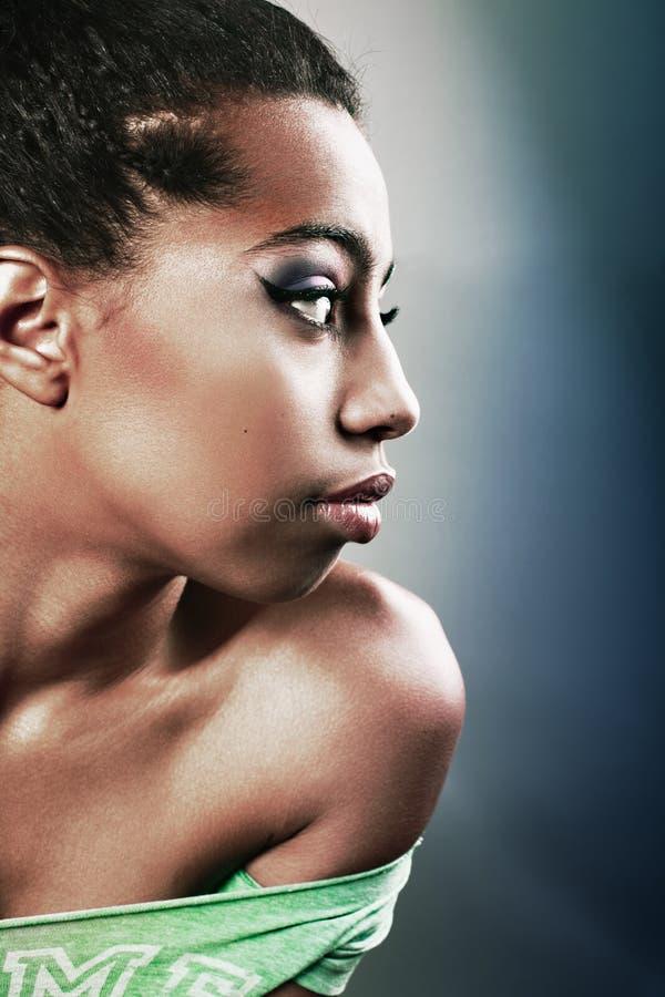 Perfil de meninas africanas imagens de stock royalty free