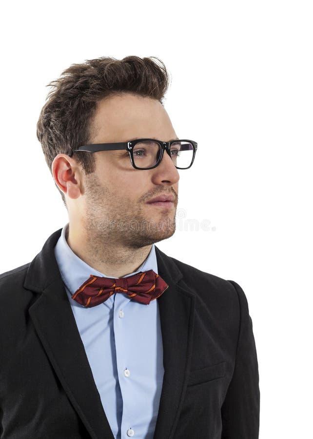 Perfil de um homem de negócios novo fotos de stock