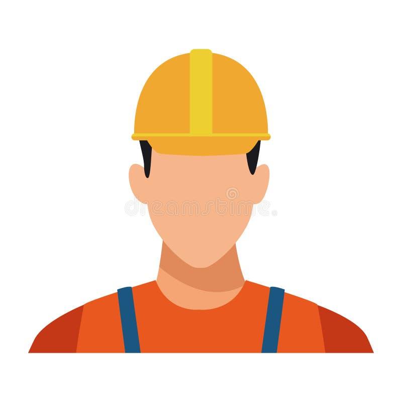 Perfil del avatar del trabajador de construcción colorido libre illustration