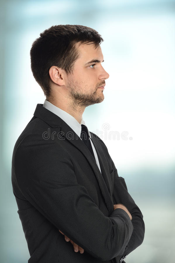 Perfil del hombre de negocios joven foto de archivo