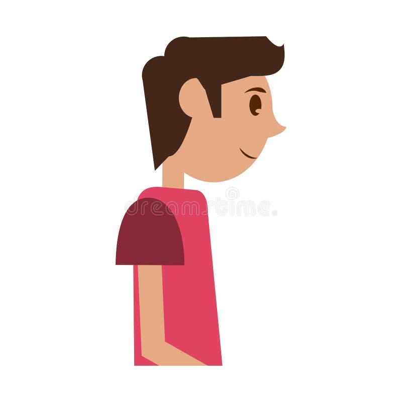 Perfil del hombre joven libre illustration