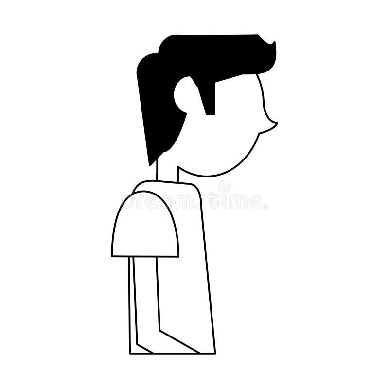 Perfil del hombre joven ilustración del vector