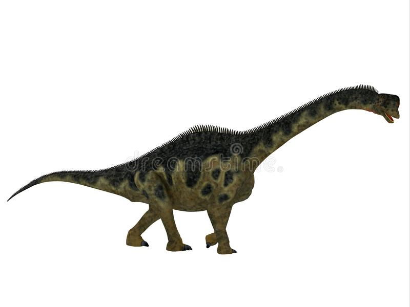 Perfil del lado del dinosaurio de Europasaurus ilustración del vector