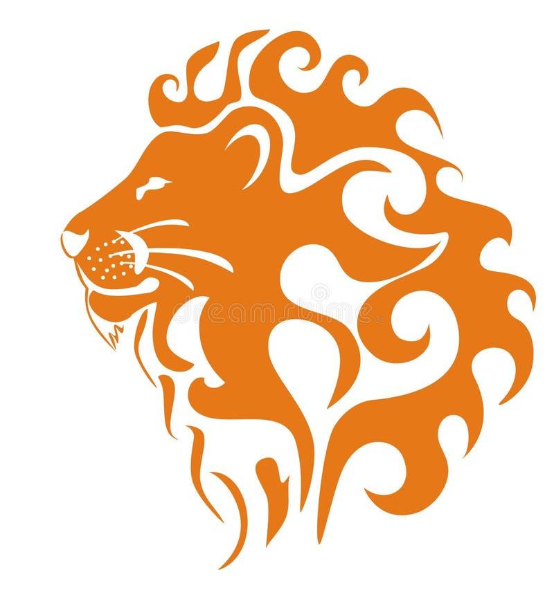 Perfil del león fotografía de archivo