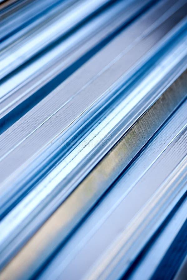 Perfil del metal imagen de archivo