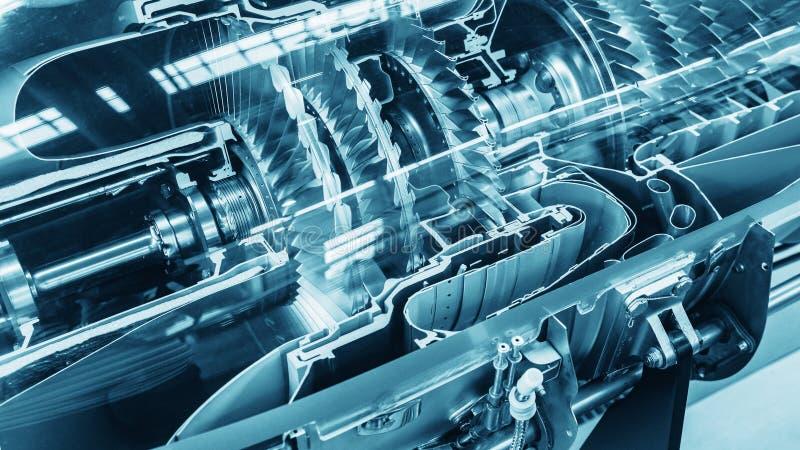 Perfil del motor de turbina Tecnologías de aviación imágenes de archivo libres de regalías