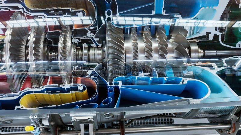 Perfil del motor de turbina Tecnologías de aviación imagen de archivo