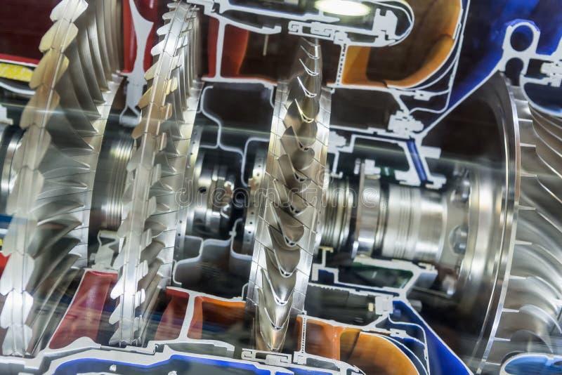 Perfil del motor de turbina Tecnologías de aviación imagen de archivo libre de regalías