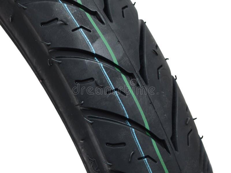 Perfil detalhado da bicicleta de motocicleta ou dos pneus para automóveis foto de stock royalty free