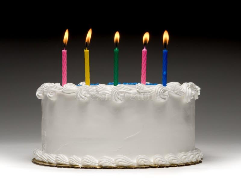 Perfil do bolo de aniversário fotos de stock