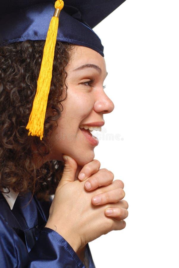 Perfil do graduado foto de stock