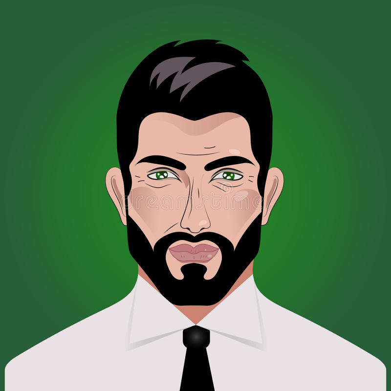 Perfil do homem de negócios ilustração royalty free