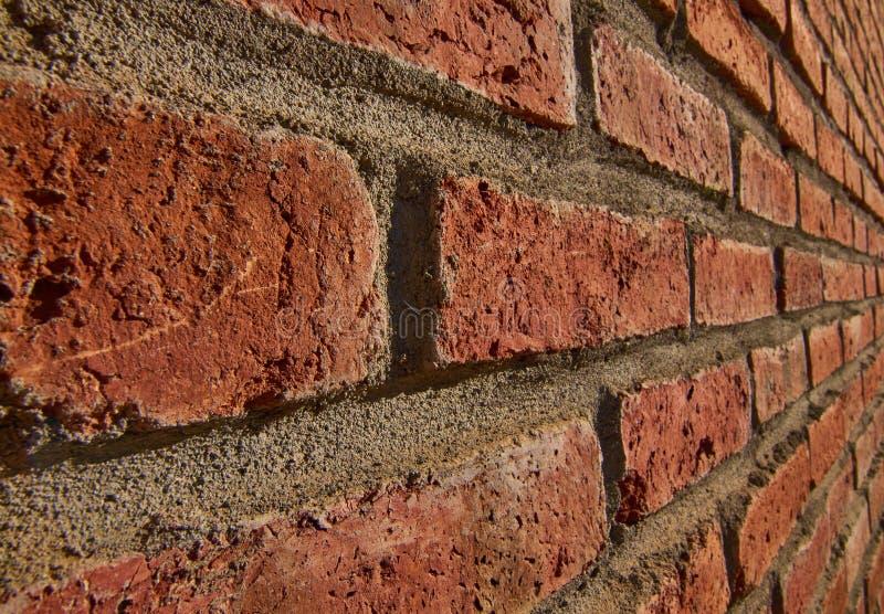 Perfil do lado da parede de tijolo vermelho fotografia de stock royalty free