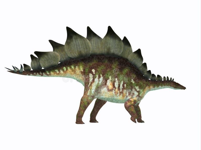 Perfil do lado do dinossauro do Stegosaurus ilustração stock