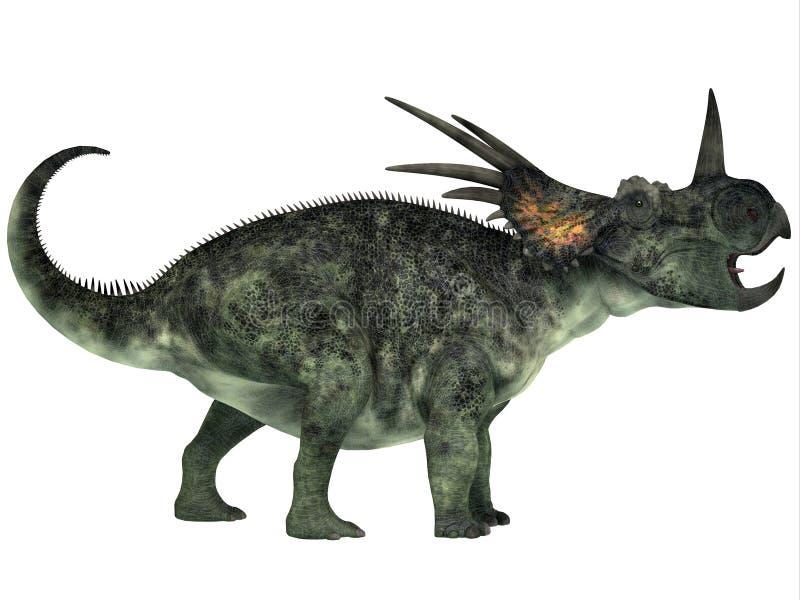 Perfil do Styracosaurus ilustração do vetor