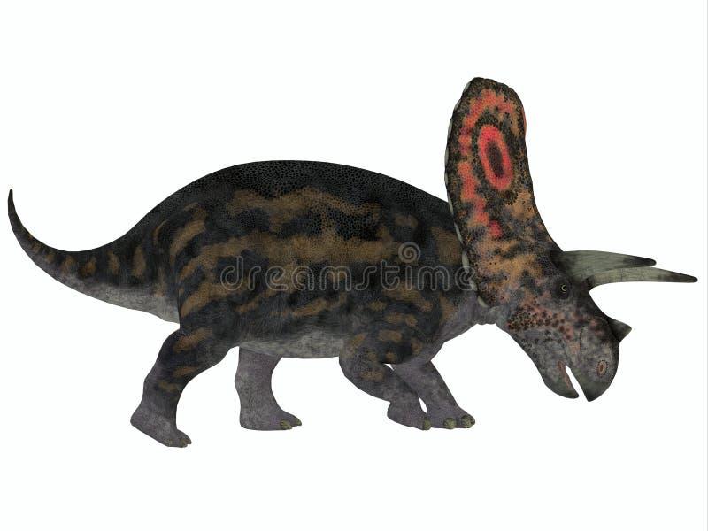 Perfil do Torosaurus ilustração stock