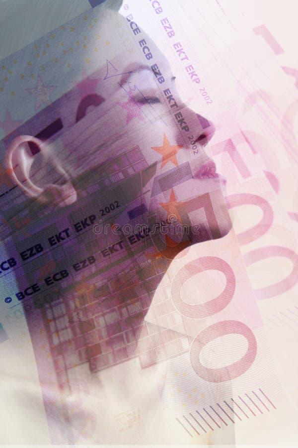 Perfil euro imagen de archivo