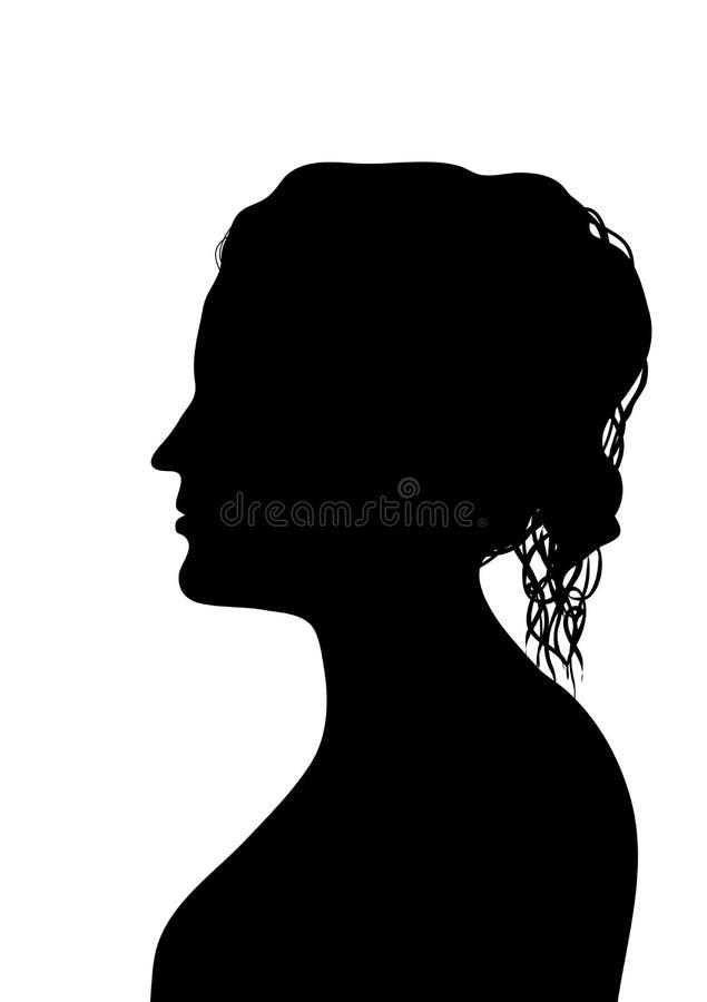 Perfil fêmea 2 ilustração do vetor
